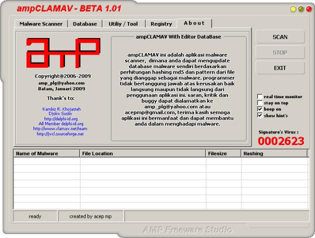 ampCLAMAV beta 1.01