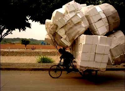 sepeda muatan penuh